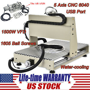 Cnc Router 6040 5 Axis 1 5kw Metal 3d Carving Woodworking Machine Usb Engraver