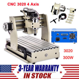 Diy Cnc Router 3020 4 Axis Wood Engraving Machine Milling Drilling 300w Engraver