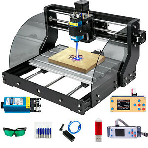 2500mw Cnc 3018 Pro Max Woodworking Mill Diy Router 3 Axis Pcb Offline Control