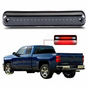 For 1988 1999 Gmc Chevrolet C K1500 Silverado Smoke Lens Led 3rd Brake Light