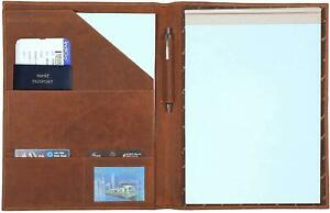 Leather Padfolio Resume Portfolio Folder Interview legal Document Organizer