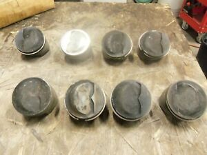 1965 66 Ford 427 Med Riser Pistons And Pins Fomoco C5ae 6110 Au Used