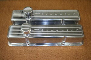 Vintage Chevrolet Script Chevy Sb Small Block Tall Or Stock Height Valve Covers