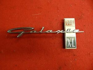 Used 63 Ford Galaxie 500 Xl Rh Name Plate Fender Script c3az 16098 c Nice