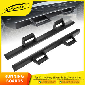 For 07 18 Chevy Silverado gmc Sierra Extended Cab Hoop Running Boards Side Steps