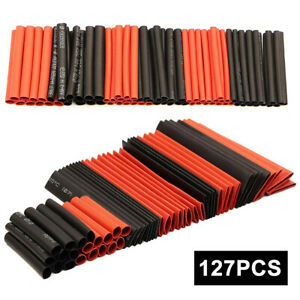 127pcs Polyolefin Assorted Heat Shrink Tube Insulated Sleeving Tubing Kit Set Ha