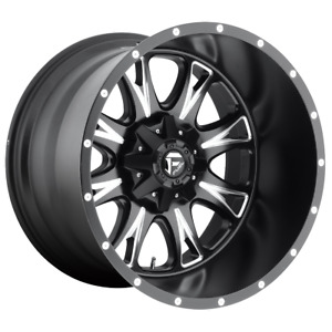 4 Wheels Fuel 1pc Throttle Matte Black Milled 17x6 5 Rims 8x200 129 Offset
