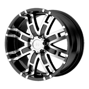 4 Wheels Helo He835 Gloss Black Machined 17x8 Ford F250 Rims 8x170 0 Offset