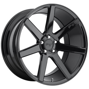 4 Wheels Niche 1pc Verona Gloss Black 20x9 Rims 5x120 35 Offset