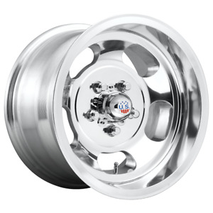 4 Wheels Us Mag 1pc Indy High Luster Polished 15x8 Rims 5x120 65 5x4 75 12