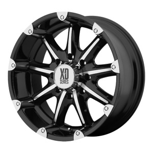 4 Xd By Kmc Wheels Badlands Gloss Black Machined 20x9 Rims Chevy Toy 6x5 5 18