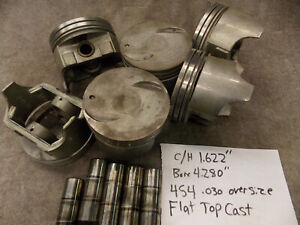 Badger B576 Chevy 454 Piston Cast 030 Over Flat Top Truck Marine 4 280 Bore