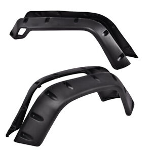 6 Pcs For 97 06 Jeep Wrangler Tj 7 Wide Black Pocket Extended Fender Flares Kit