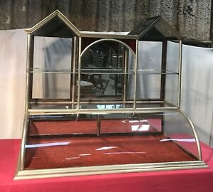 Vintage Twin Tower General Country Store Showcase Display Case