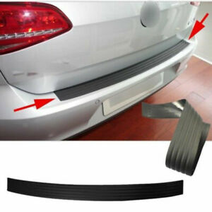 35 Black Car Rear Bumper Sill Protector Plate Rubber Cover Pad Moulding Trim Us