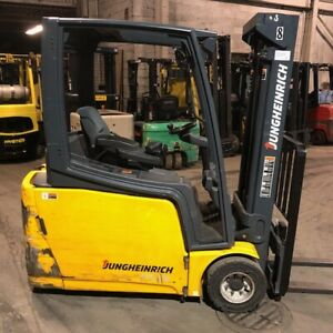 2014 Jungheinrich 4000lbs Used Forklift Triple Mast Sideshift Good Battery