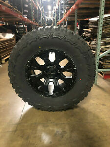 18x9 Helo He878 Black Wheels Rims 35 Mt Tires Package 5x5 Jeep Gladiator Jt