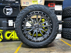 20x9 Fuel D680 Rebel Gray Wheels Rims 32 At Tires Package 5x150 Toyota Tundra