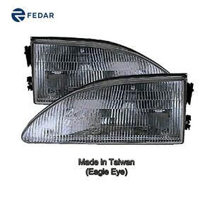 Headlight Front Lamp Fit 1994 1998 Ford Mustang Pair Rh Lh