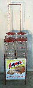 Vintage Lance Cracker General Country Store Display With 4 Jars