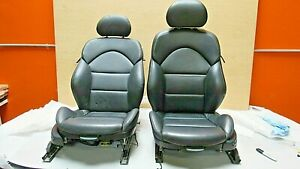 2001 2006 Bmw E46 M3 M Coupe Black Nappa Leather Front Seat Pair Oem A 7687