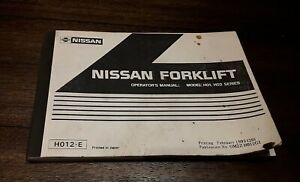 Nissan Forklift Operator s Manual H01 H02 Series