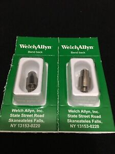 Lot 2 Welch Allyn Halogen Lamp For 3 5v Macroview Otoscope 23810 23820 06500