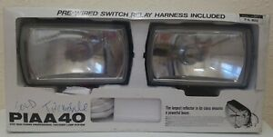 Piaa 40 Professional Halogen Fog Lights Lamp System Rectangle New Nos Japan