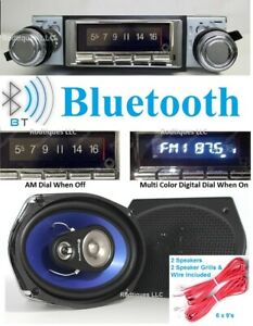 1968 1976 Nova Bluetooth Stereo Am fm Radio Multi Color Display 6x9 Speakers 740