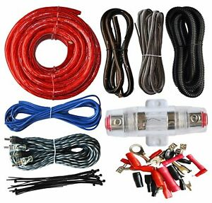 Soundbox Eck4 4 Gauge Amplifier Install Kit Complete Amp Wiring Cables 2300w