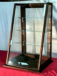 Antique 3ft Locking Oak General Country Store Counter Showcase Display Case