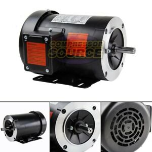 1 Hp Electric Motor 3 Phase 56c Frame 3600 Rpm Tefc 208 230 460 Volt New