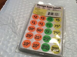 Price Tags Garage Sale Stickers Rummage Sale Flea Market Auction 375 Labels