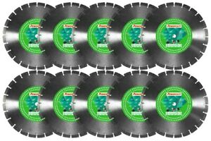 10pk 14 Concrete Masonry Asphalt 12 9mm High Seg More Diamond Saw Blade best