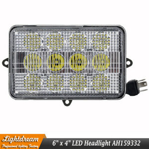 60w Led Headlights 4x6 12v 24v Led Sealed Beam W h4 Plug For John Deere Tractors