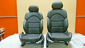 2001 2006 Bmw E46 M3 M Coupe Black Nappa Leather W Cloth Front Seat Pair Oem