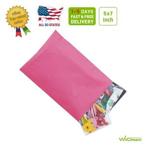 0 5 X 7 Inch Poly 2 5 Mil Mailers Shipping Envelopes Packaging Bags Pink