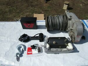 Warn 8274 8000 Winch Vintage With Remote And Lots Of New Parts
