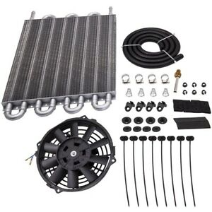 Universal 15 1 2 Radiator Transmission Oil Cooler 7 Cooling Fan Kit