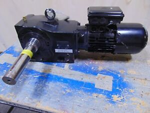 1 2 Hp Nord Electric Motor With Dual Output Gearbox Speed Reducer 1 1 2 Shaft