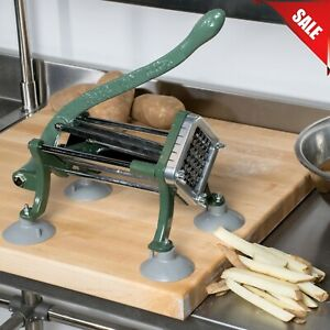 1 2 Commercial Restaurant Pub Countertop French Fry Potato Cutter Slicer Dicer