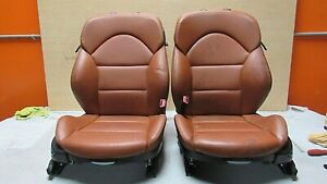 2001 2006 Bmw E46 M3 M Coupe Cinnamon Nappa Leather Front Seat Pair Oem A 7732