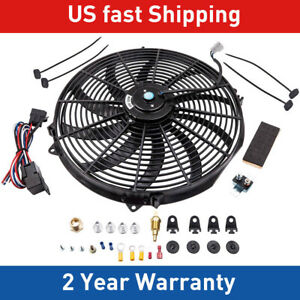 16 Inch Electric Radiator Fan 80w 3000 Cfm Thermostat Relay Kit