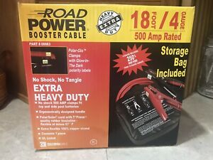 Coleman Cable Road Power Booster Cable 18 Foot 4 Gauge