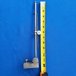 Vintage Starrett 56 Small Surface Gauge W 7 scribe And 12 Mast