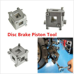 Carbon Steel 4 Wheel Disc Brake Caliper Piston Rewind Wind Back Cube Tool 3 8