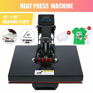 Diy Digital Clamshell T shirt Heat Press Machine Sublimation Transfer 15 x15