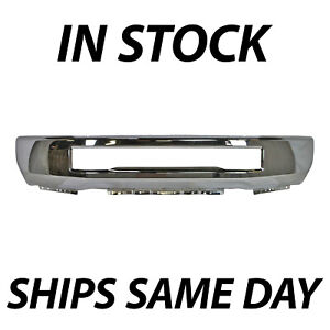 New Chrome Steel Front Bumper Face Bar For 2017 2019 Ford F 250 F 350 Super Duty