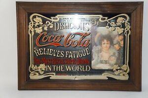 COLLECTABLE COCA-COLA MIRROR SIGN BAR/STORE ADVERTISEMENT