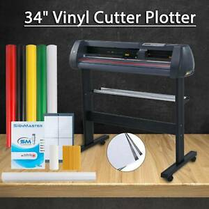 34 Vinyl Cutter Sign Plotter Cutting W Cut Basic Software 3 Blades Supplies